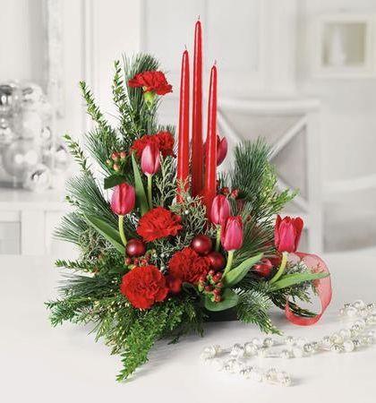 Santas Surprise Christmas Hurricane Christmas Flower