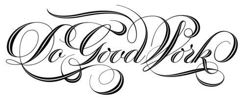 Do Good Work typography