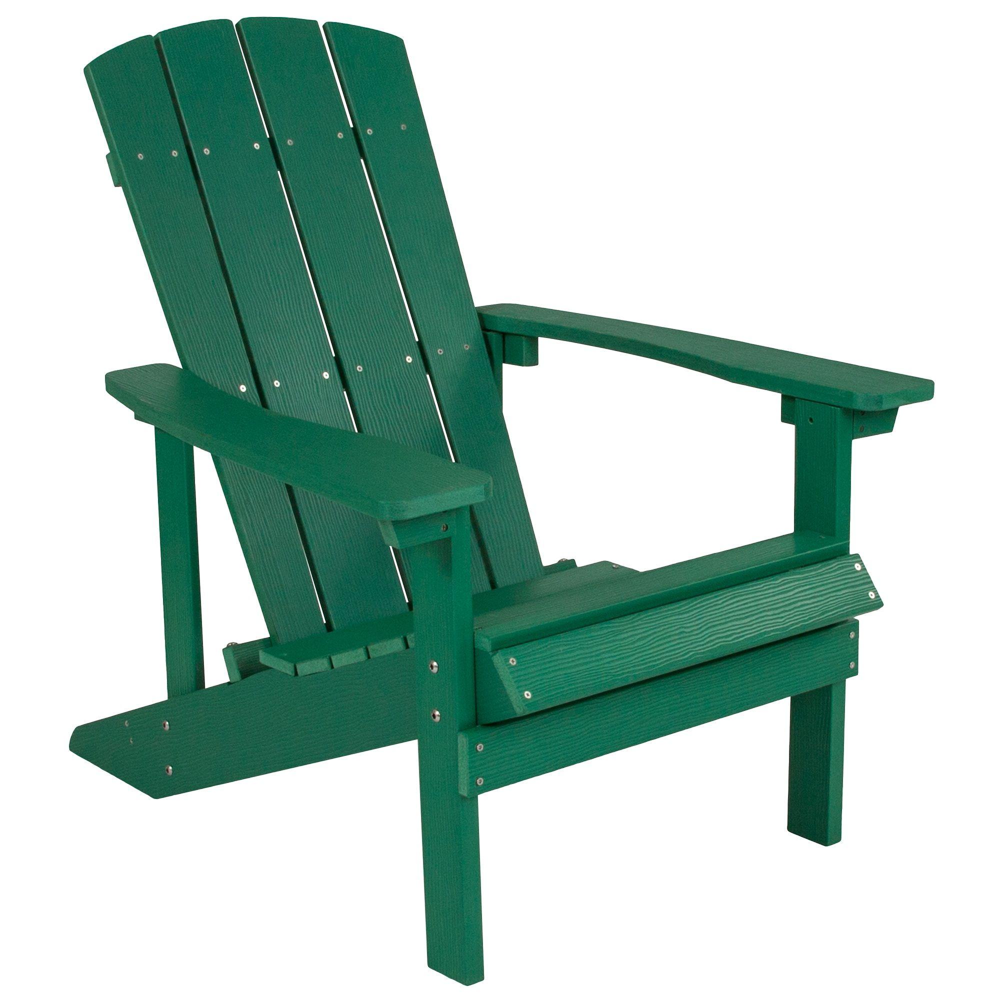 "35"" Green Faux Wood Charlestown AllWeather Adirondack"