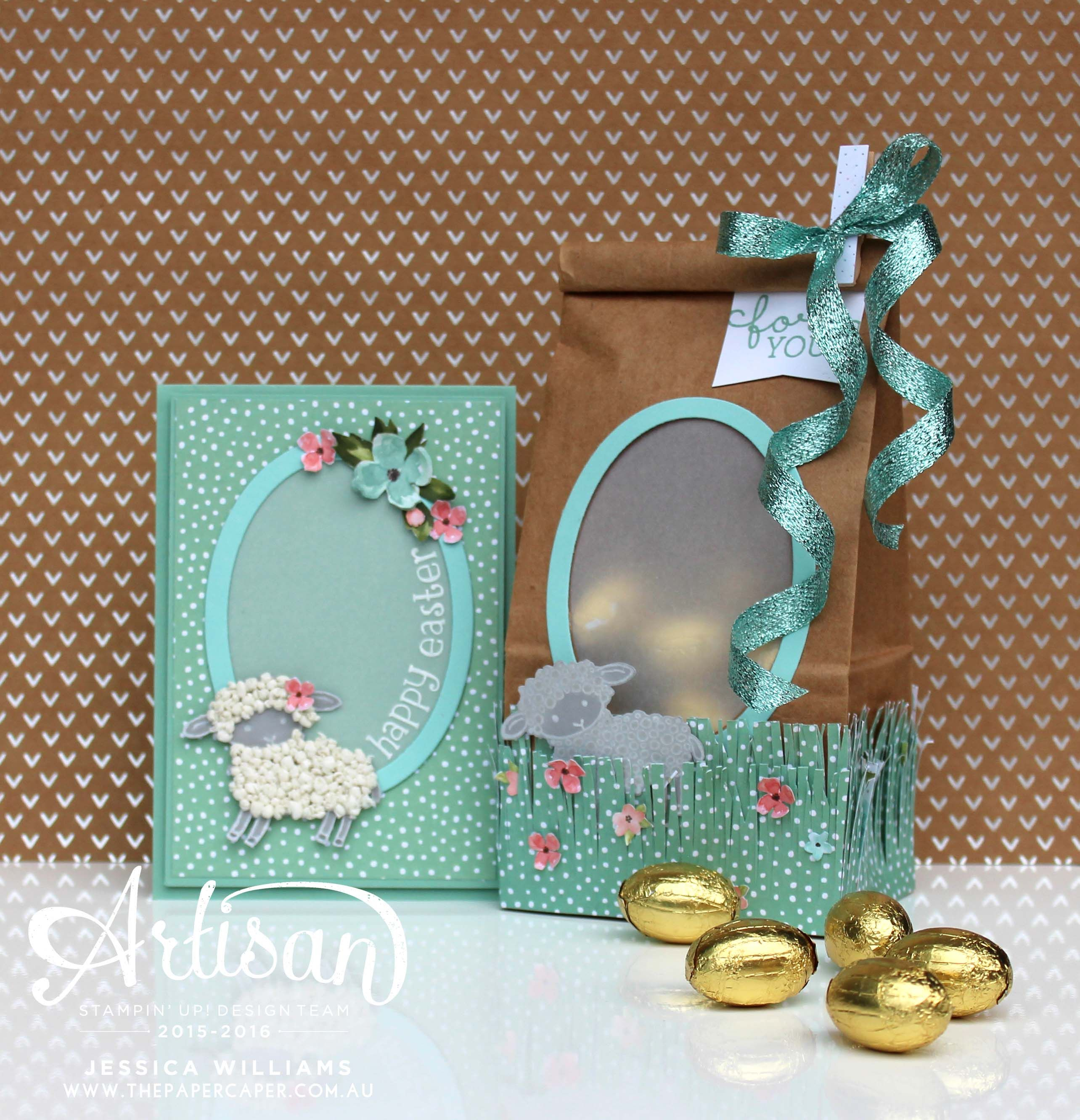 Artisan Design Team blog hop - Easter Lamb - The Paper Caper