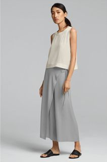 ceab9c96361 EILEEN FISHER Spring Icons Collection  Silk Shell + Wrap Pant