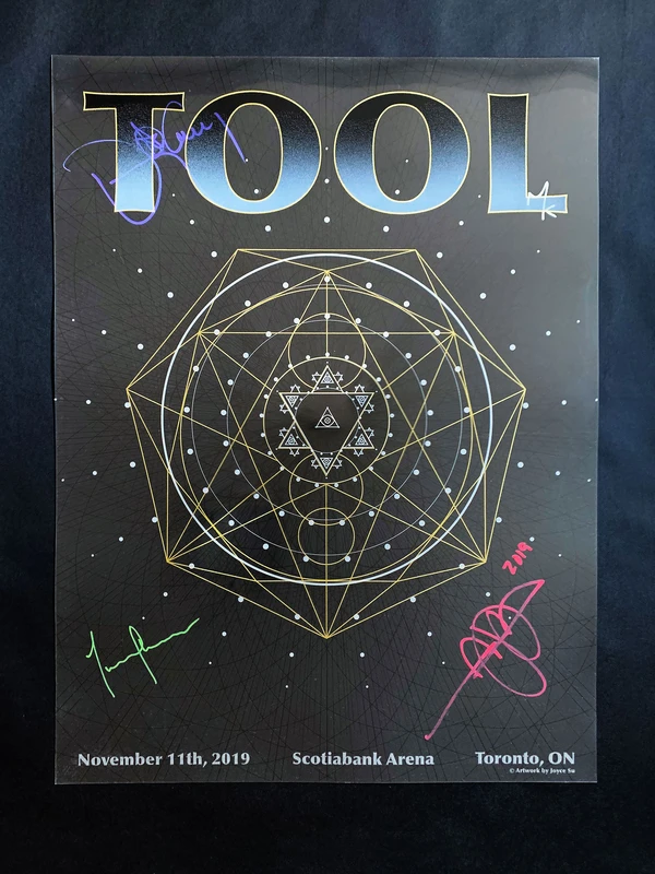 Tool Signed Tour Poster Toronto In 2020 Tour Posters Poster Tours