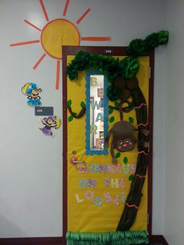 Math Classroom Door Decorations : Monkey classroom door decoration my creations
