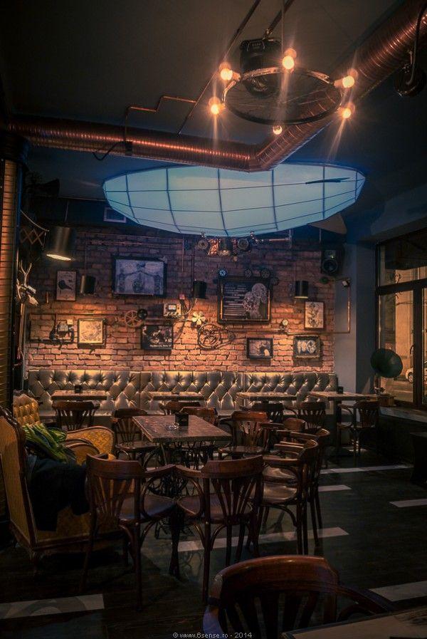 Joben Bistro Design Interior Bar Cluj Napoca Romania Steampunk