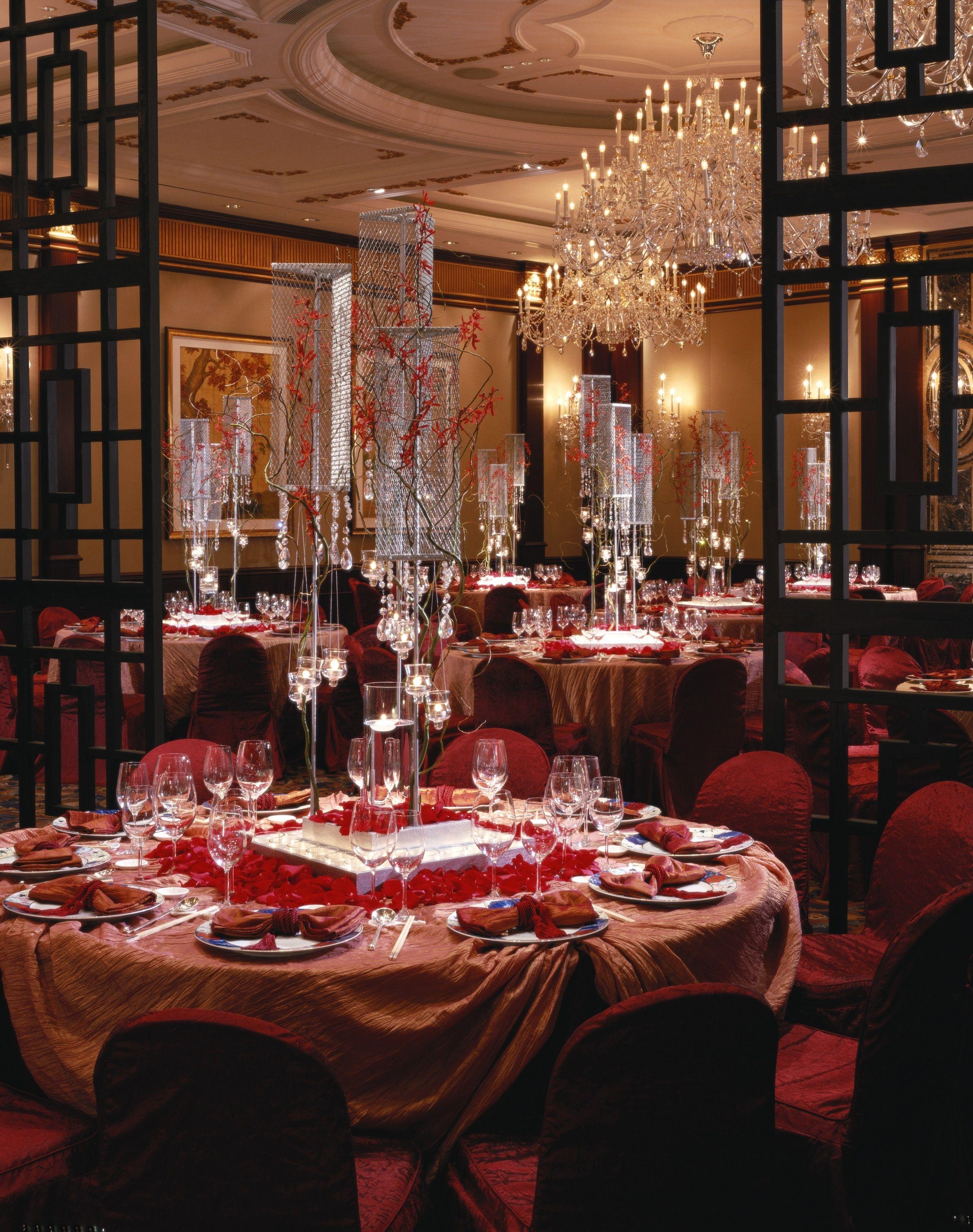 Island Ballroom Chinese Wedding Reception Island Shangri La Hong