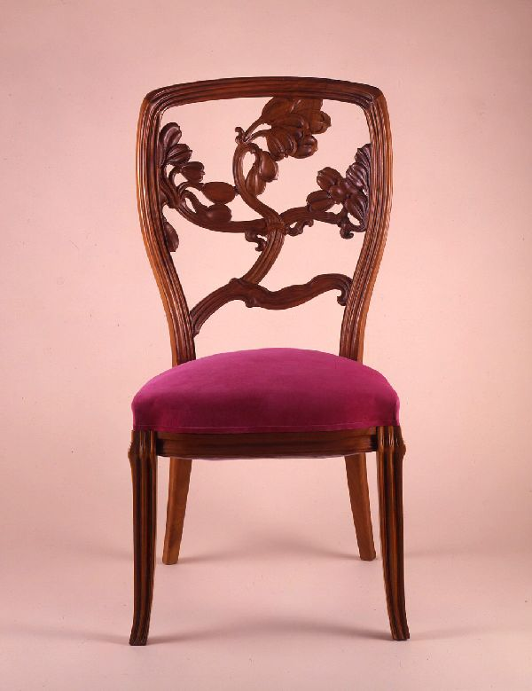emile gall chair cole de nancy france c 1904. Black Bedroom Furniture Sets. Home Design Ideas