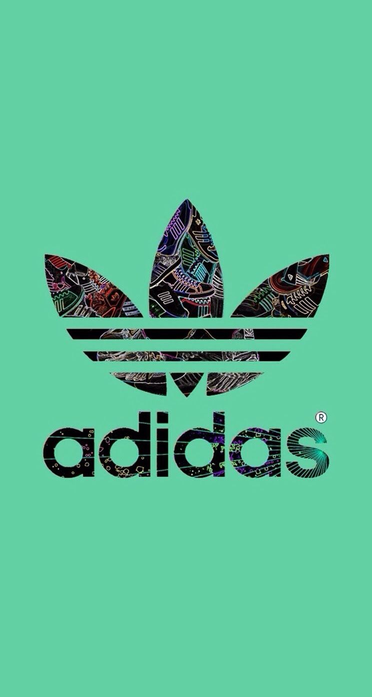 Adidas Logo Green Background iPhone 6 Plus HD Wallpaper - Top 10 Brands iPhone  Wallpapers