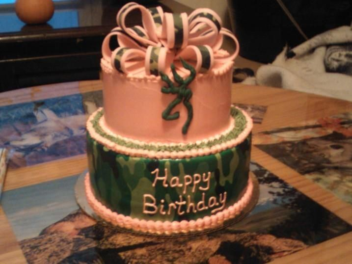 Hunter Birthday Cake Camo Deer Cakes By Sarahs Sweets
