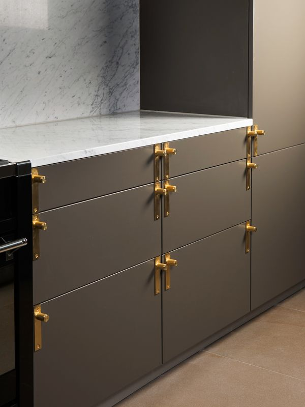 Solid Brass Kitchen Handles From Buster Punch Hardware