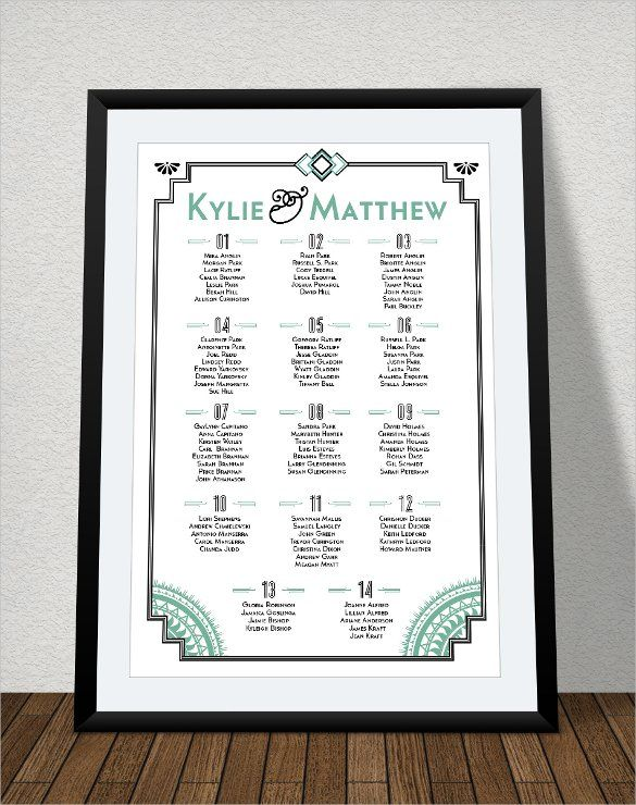 Wedding Seating Chart Template   Examples In Pdf Word Psd