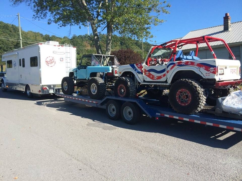 15fa5debe4b248b6747a103a322162bf kaufman two car hauler custom built for james duff bronco