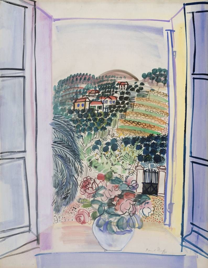 Le desir de lautre raoul dufy french 1877 1953 open for Fenetre ouverte