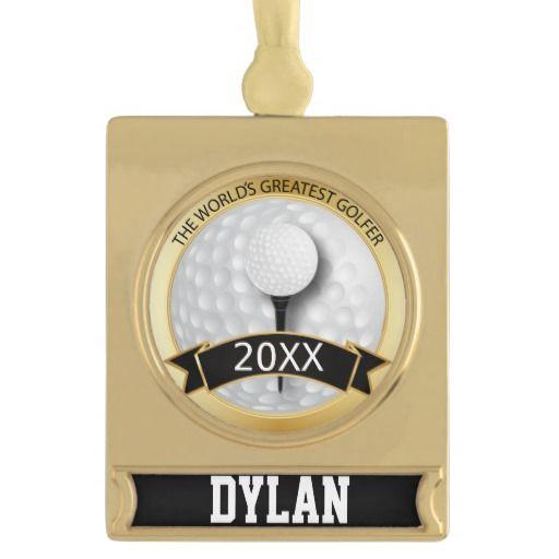 World's Greatest #Golfer | #Personalize | #Classy #zazzlebesties #Ornament #zazzle #Christmas #gift