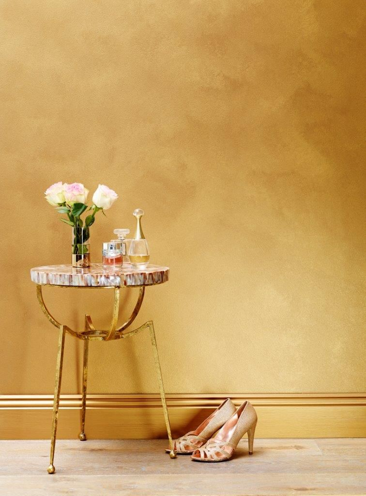 Porter\'s Paints Liquid Gold in Rose Gold The walls | Kitchen ideas ...