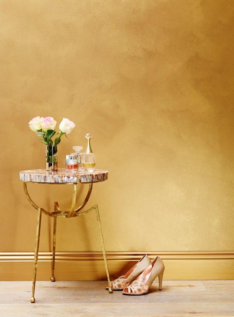 Master Bedroom Gold Walls porter's paints liquid gold in rose gold | porter's paints