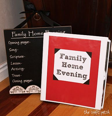 the craft patch gift idea family home evening chart and lesson