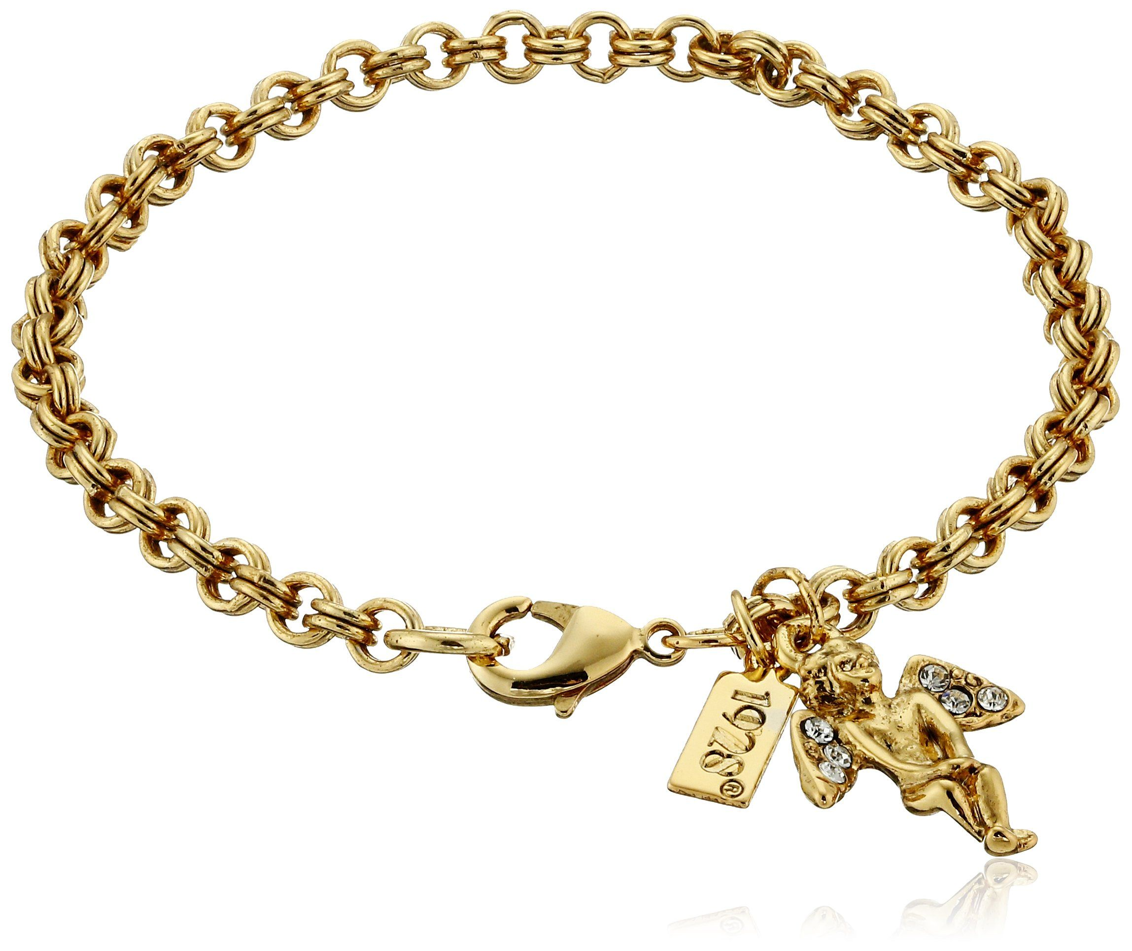 Symbols of faith inspirations 14k gold dipped crystal angel symbols of faith inspirations 14k gold dipped crystal angel chain link charm bracelet 7 comes in a gift box this symbols of faith 14k gold dipped link biocorpaavc Images