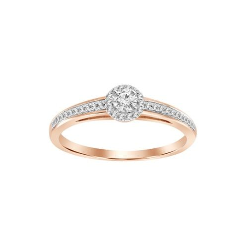 1/4 Ct. Tw. Diamond Engagement Ring In 10K Rose Gold