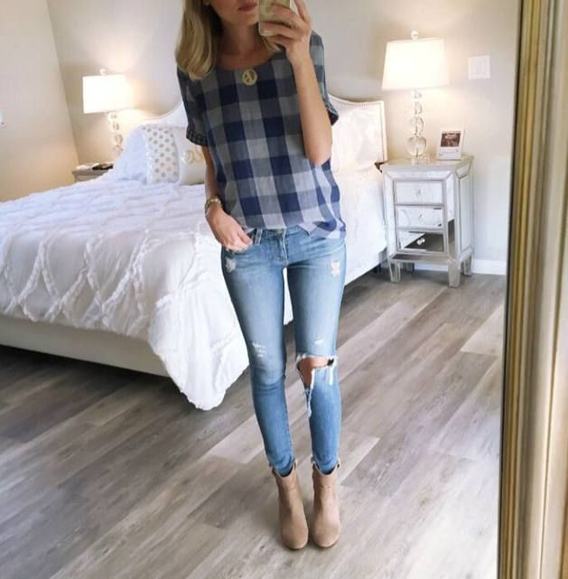 Checkered Top Casual Outfit Idea  # #A spoonful of Style #Summer Trends #Fashionistas #Best Of Summer Apparel #Outfit Idea Casual #Casual Outfit Idea Checkered Top #Casual Outfit Idea Must-Have #Casual Outfit Idea 2015 #Casual Outfit Idea How To Dress Up #Casual Outfit Idea How To Rock
