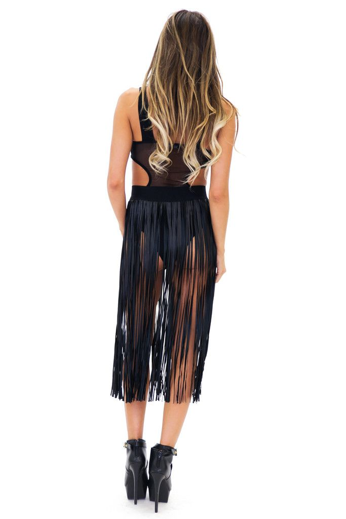 Fred vegan leather fringe skirt | Products, Leather fringe and ...