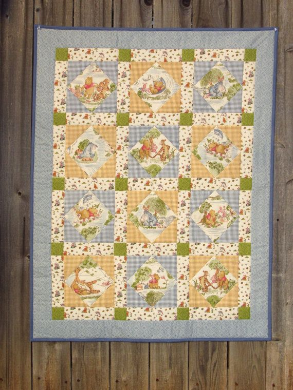 Disney's Winnie the Pooh Baby Quilt by KristinaRees on Etsy ... : winnie the pooh baby quilt - Adamdwight.com