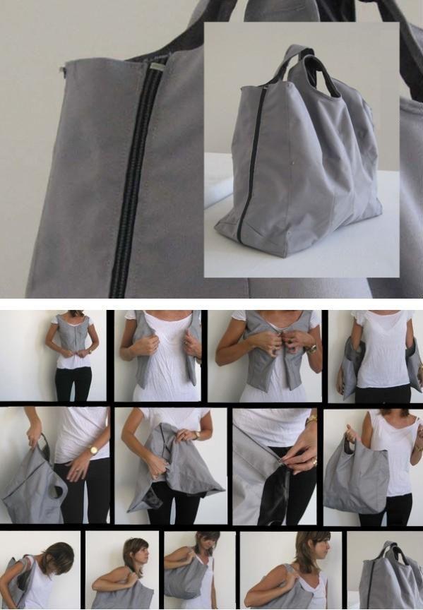 Jacke zu Tasche #nähen Diese und weitere Taschen auf www ...