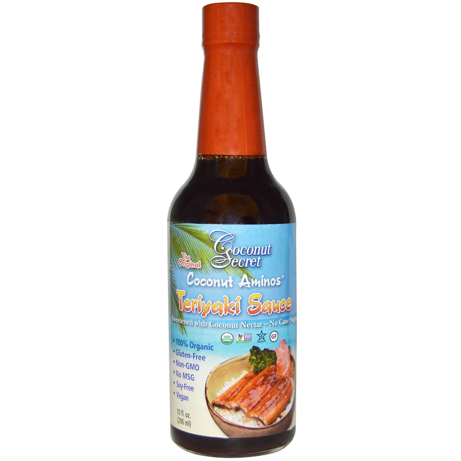 Coconut Secret, Teriyaki Sauce, Coconut Aminos, 10 fl oz (296 ml) - iHerb.com
