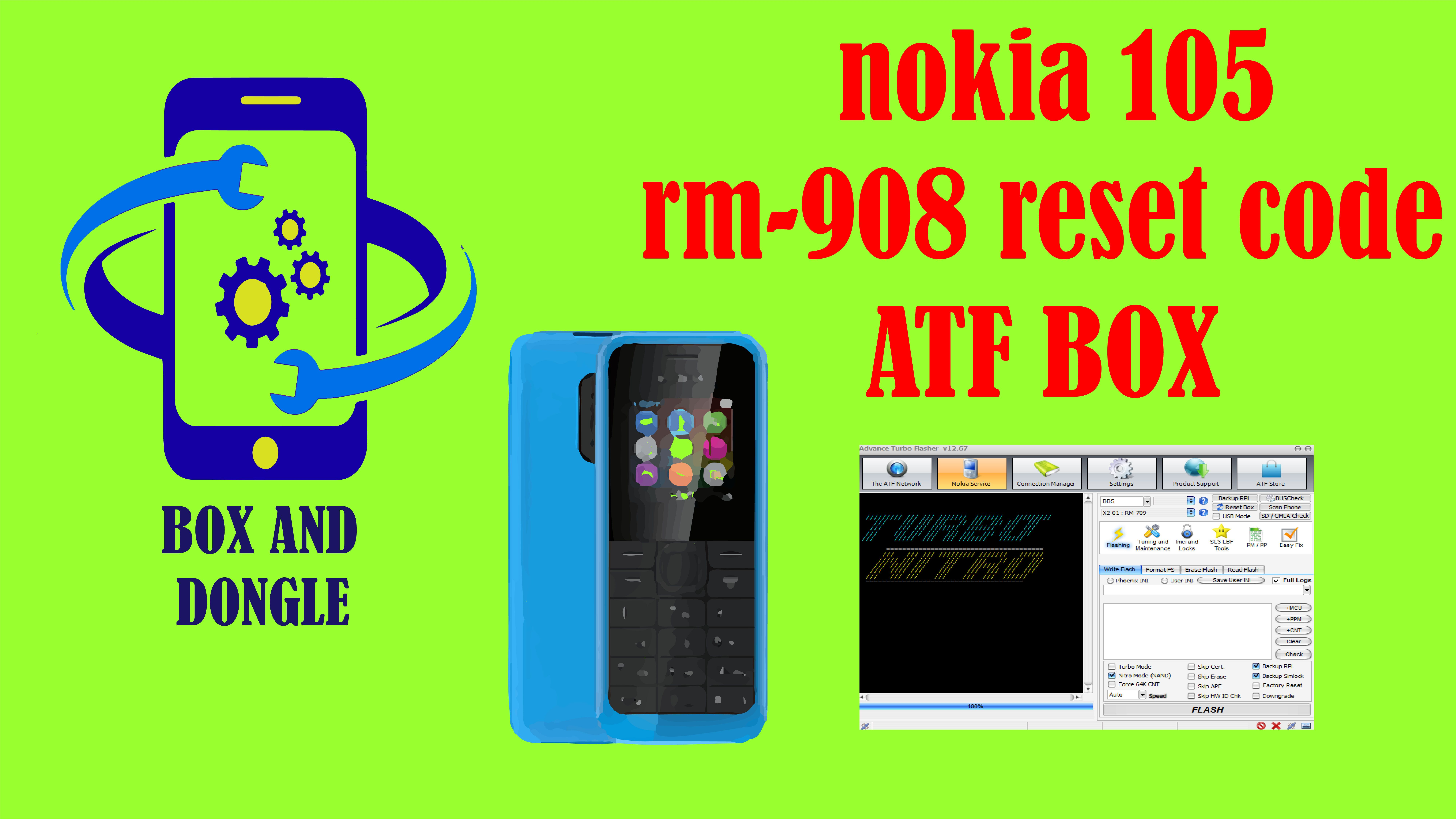 nokia 105 rm908 reset code by ATF BOX