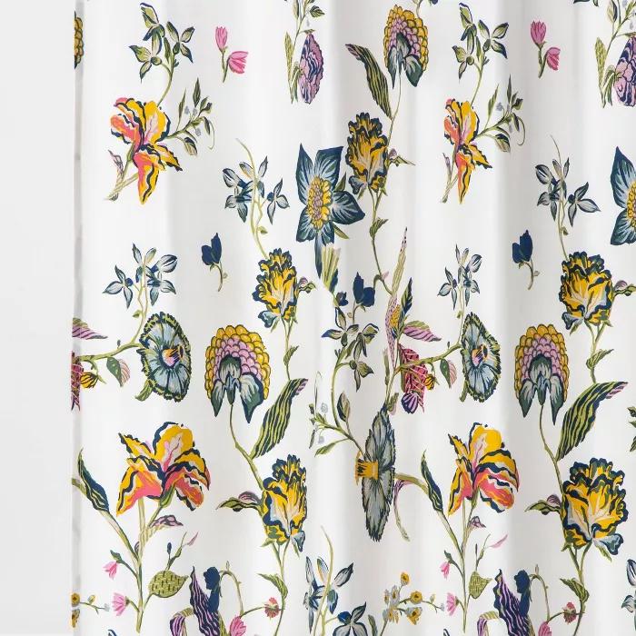 jacobean shower curtain floral