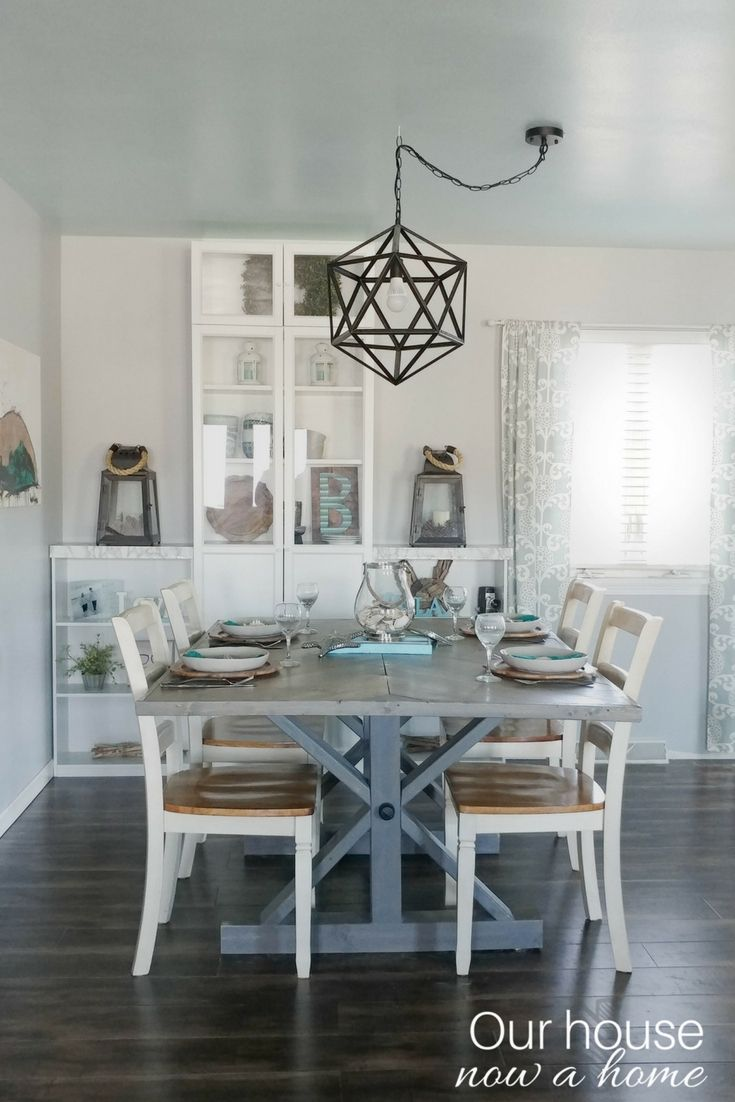 Simple dining room makeover low cost and easy updates