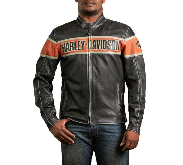 Harley Davidson Men's Victory Lane Leather Jacket Free