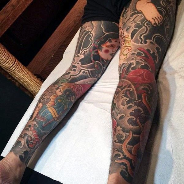 Top 47 Japanese Tattoo Ideas 2020 Inspiration Guide In 2020 Japanese Tattoo Japanese Tattoos For Men Leg Tattoos