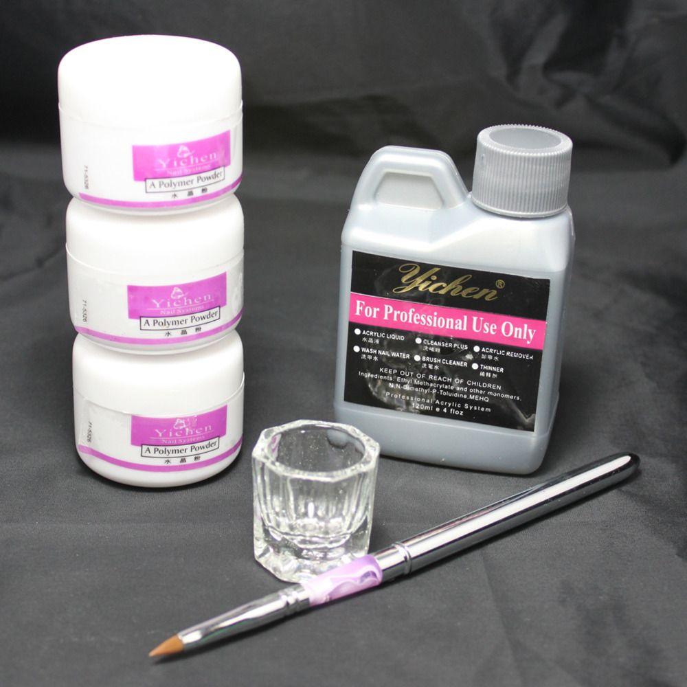 Nail Beauty Art Kit Acrylic Liquid Powder Pen Diy Den Dish Tool Set