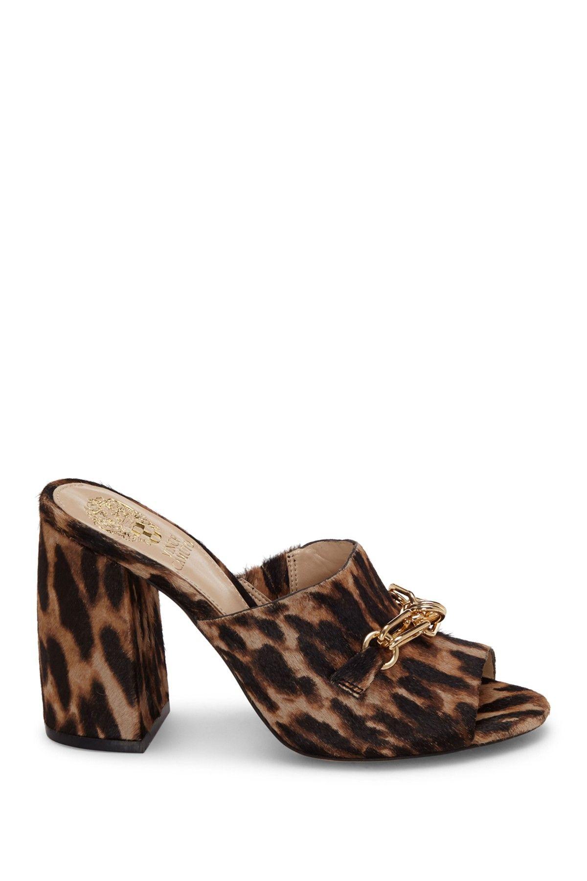 Vince Camuto Gessien 3 Genuine Calf Hair Slide Sandal Nordstrom Rack In 2020 Slide Sandals Calves Hair Slide