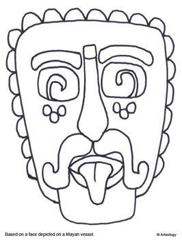 Mesoamerican Art Coloring Pages Aztec Art Art Worksheets Art