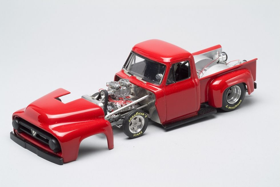 55 56 Custom Ford Drag Truck Car Model Plastic Model Cars Scale Models Cars