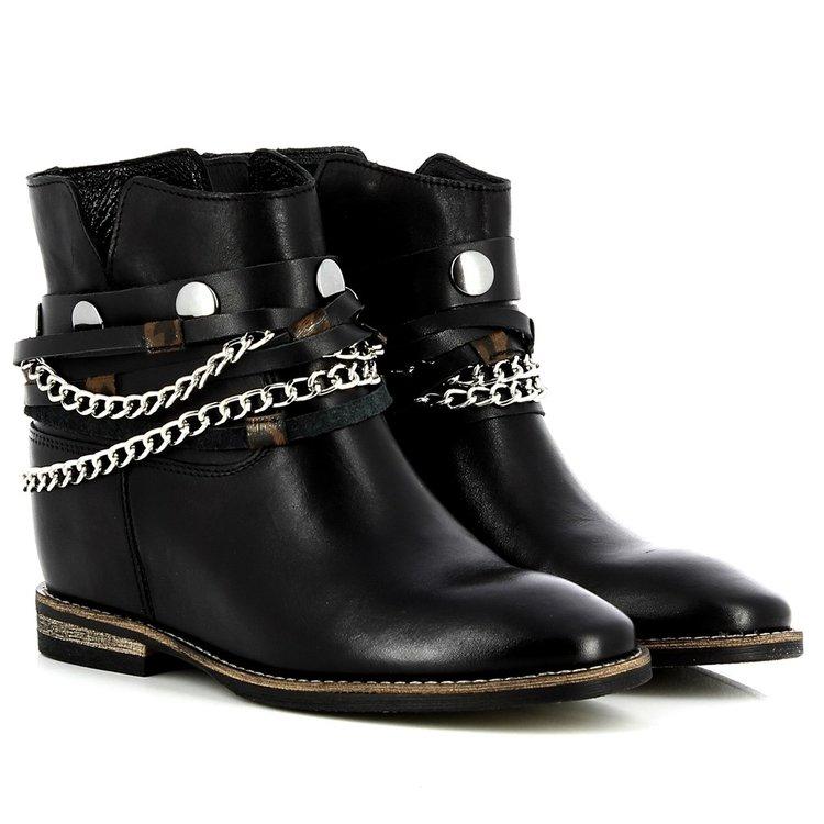 Botki Carinii B4898 E50 000 000 B89 Botki Obuwie Biker Boot Boots Shoes