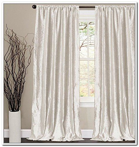 velvet off white color window curtains absolute blackout lined curtains