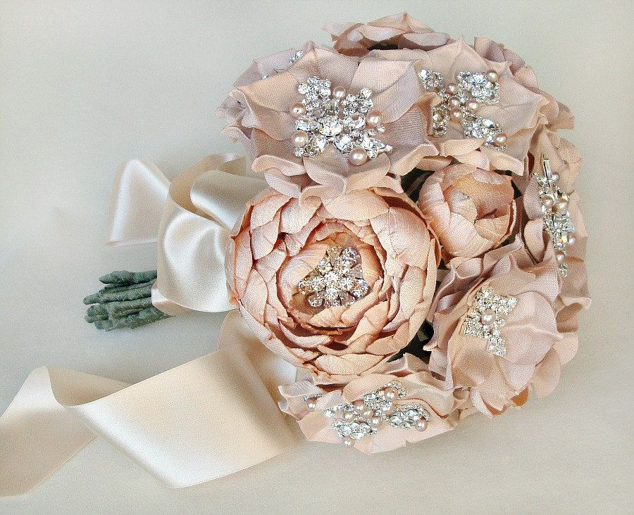 Luly All Blush Silk Flower Bouquet Made To Order 6 Weeks To Ship