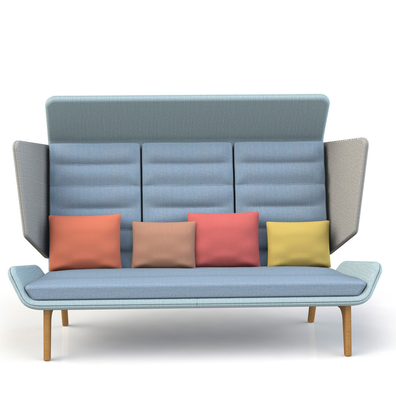 Aden High Back Sofa Provides Offices With Informal Soft Seating Solutions For Small Groups When Privacy Is Required S Design Has