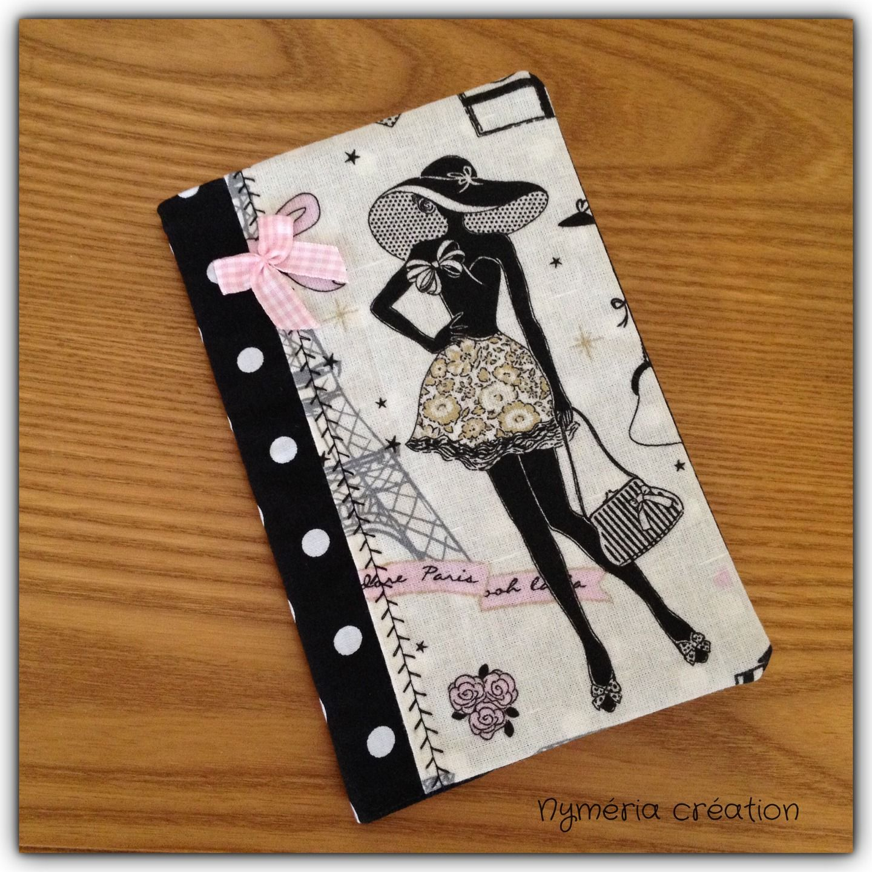 carnet de sac r tro la parisienne en tissu tissu noir. Black Bedroom Furniture Sets. Home Design Ideas