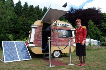 Sol Cinema, the world's smallest solar powered mobile cinema
