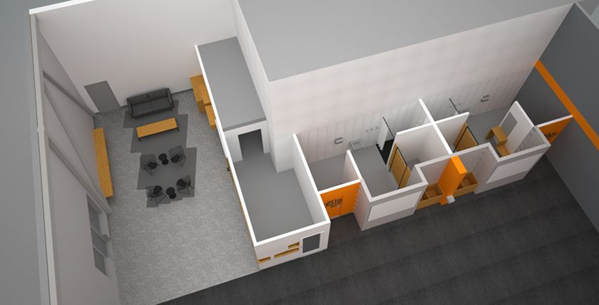 Crossfit 613 redesign commercial modern architectural for Commercial interior design london