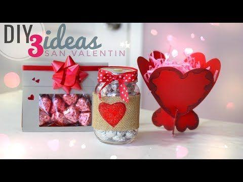 Diy 3 ideas para san valentin manualidades dia del amor y la amistad diy 14 de febrero Adornos san valentin manualidades