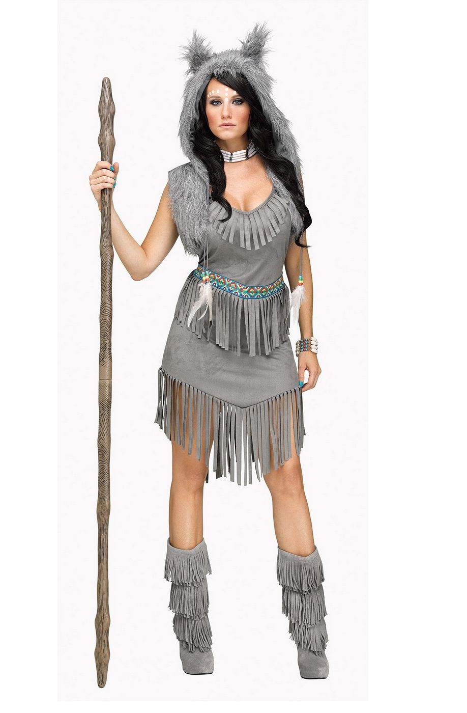 Wolf Dancer Women's Costume Native American Indian