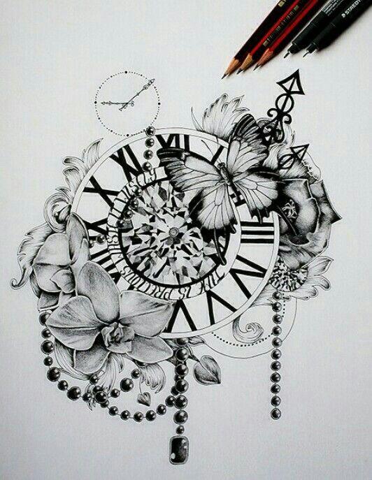 Beautiful And Timeless Tattoos Beautiful Tattoos Clock Tattoo