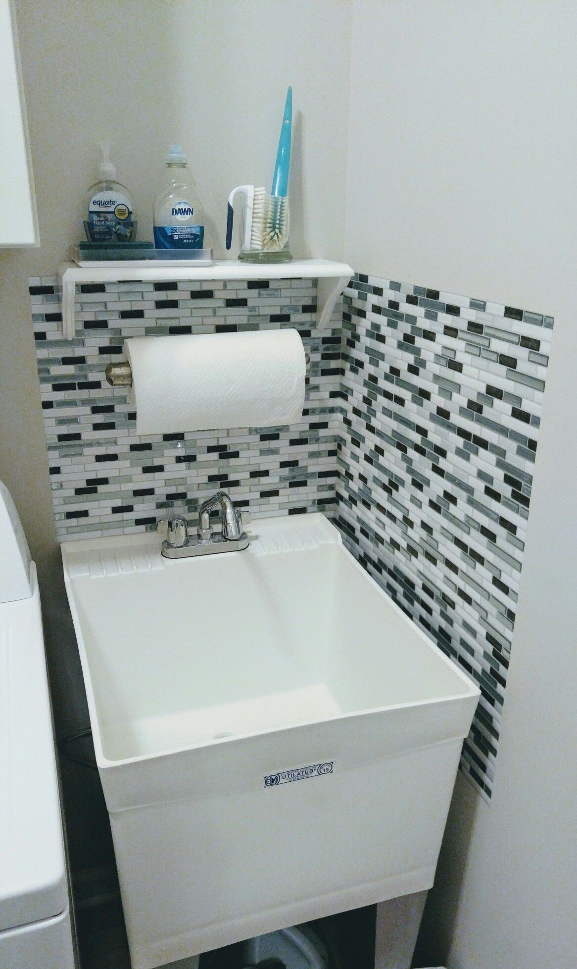 I Used Them Around The Utility Sink To Protect Walls From Water Splashing Best Investment Super Easy Cut And Ly