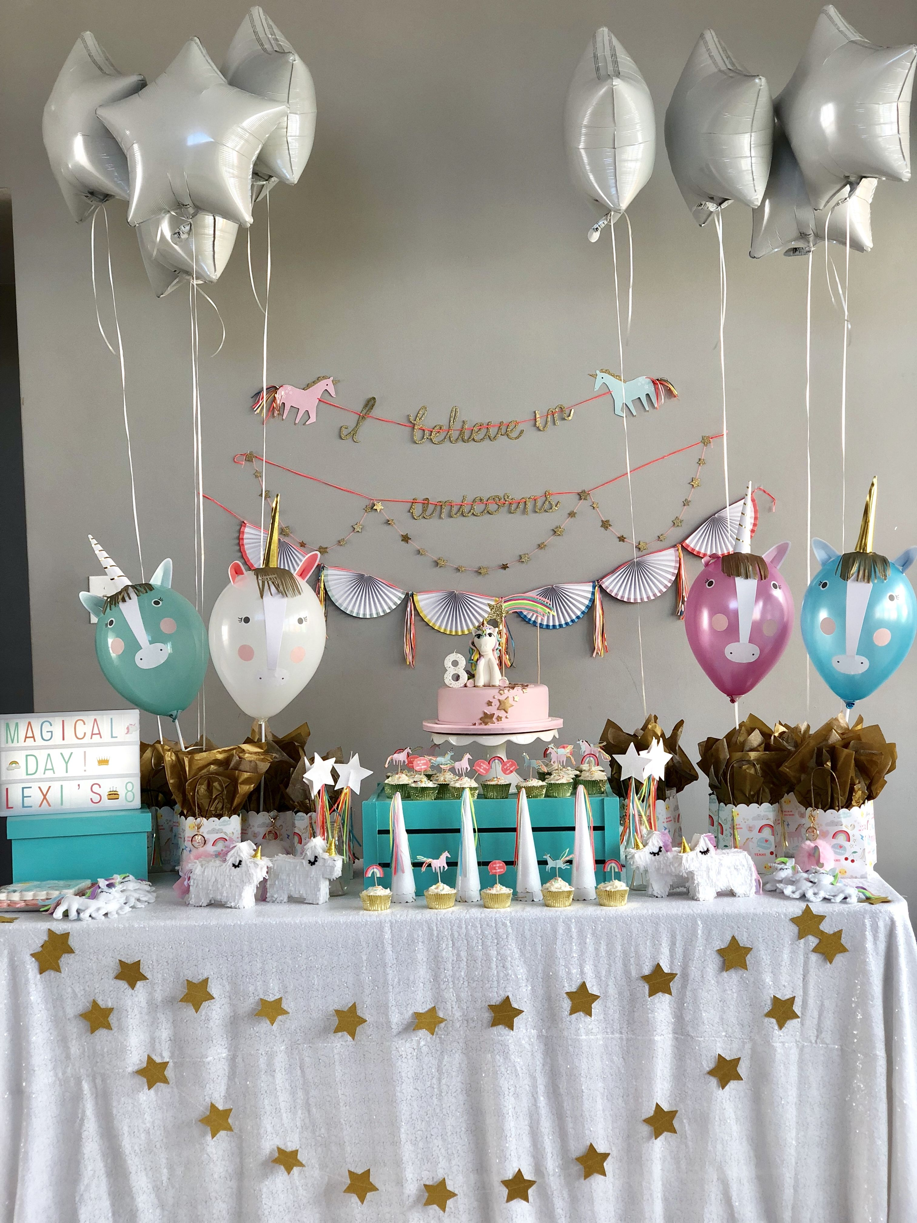 Unicorn Birthday Decoration Ideas Decorations 8th Anniversary
