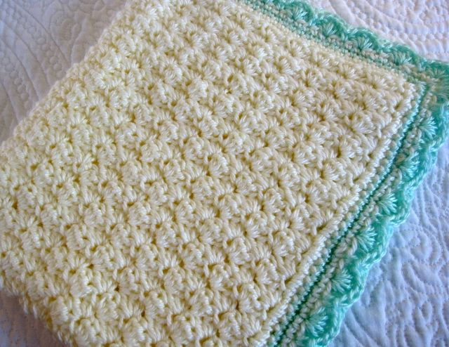 Shell Stitch Baby Afghan Pattern Skeins Of Bernat Softee Baby In