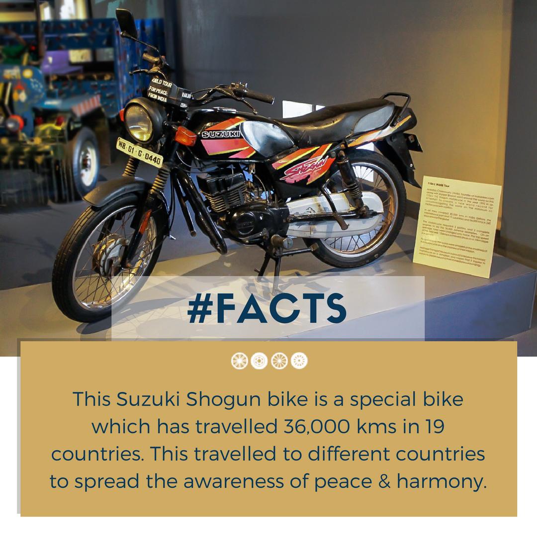 Suzuki Shogun bike is waiting to meet you at the museum this